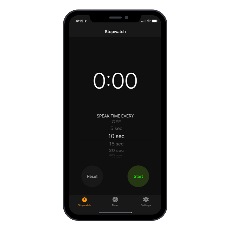 Stopwatch and timer app designed for Plank